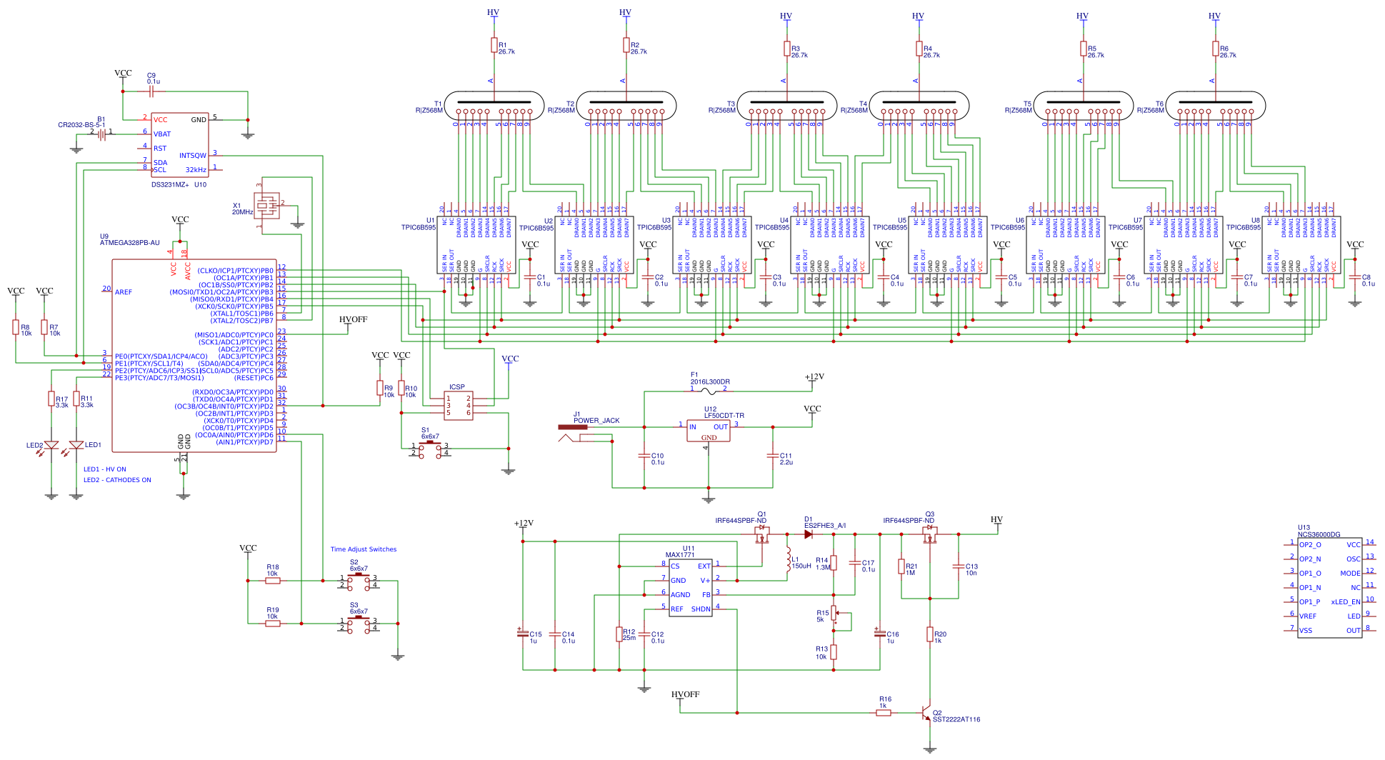 Nixie Driver Design Prototype Using R|Z568M Dalibor Farny ... on