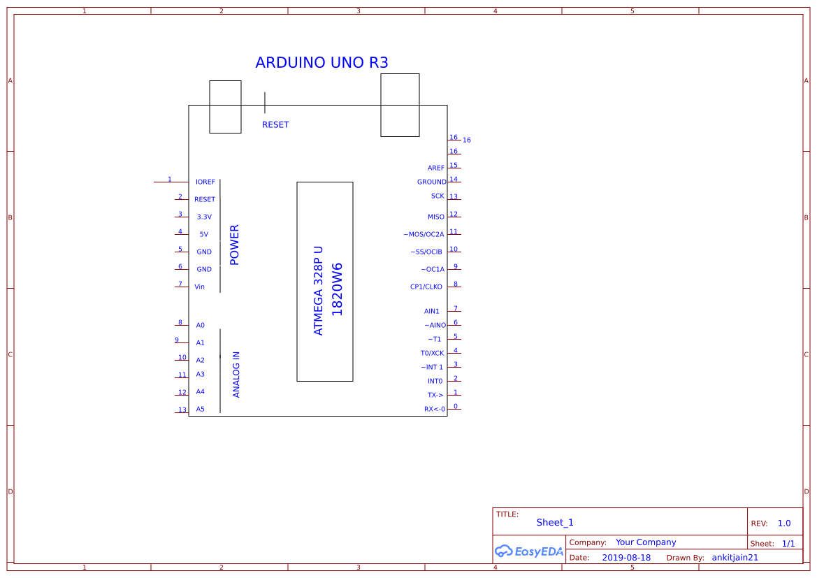BASIC CIRCUIT DIAGRAM OF ARDUINO UNO R3 - EasyEDAEasyEDA