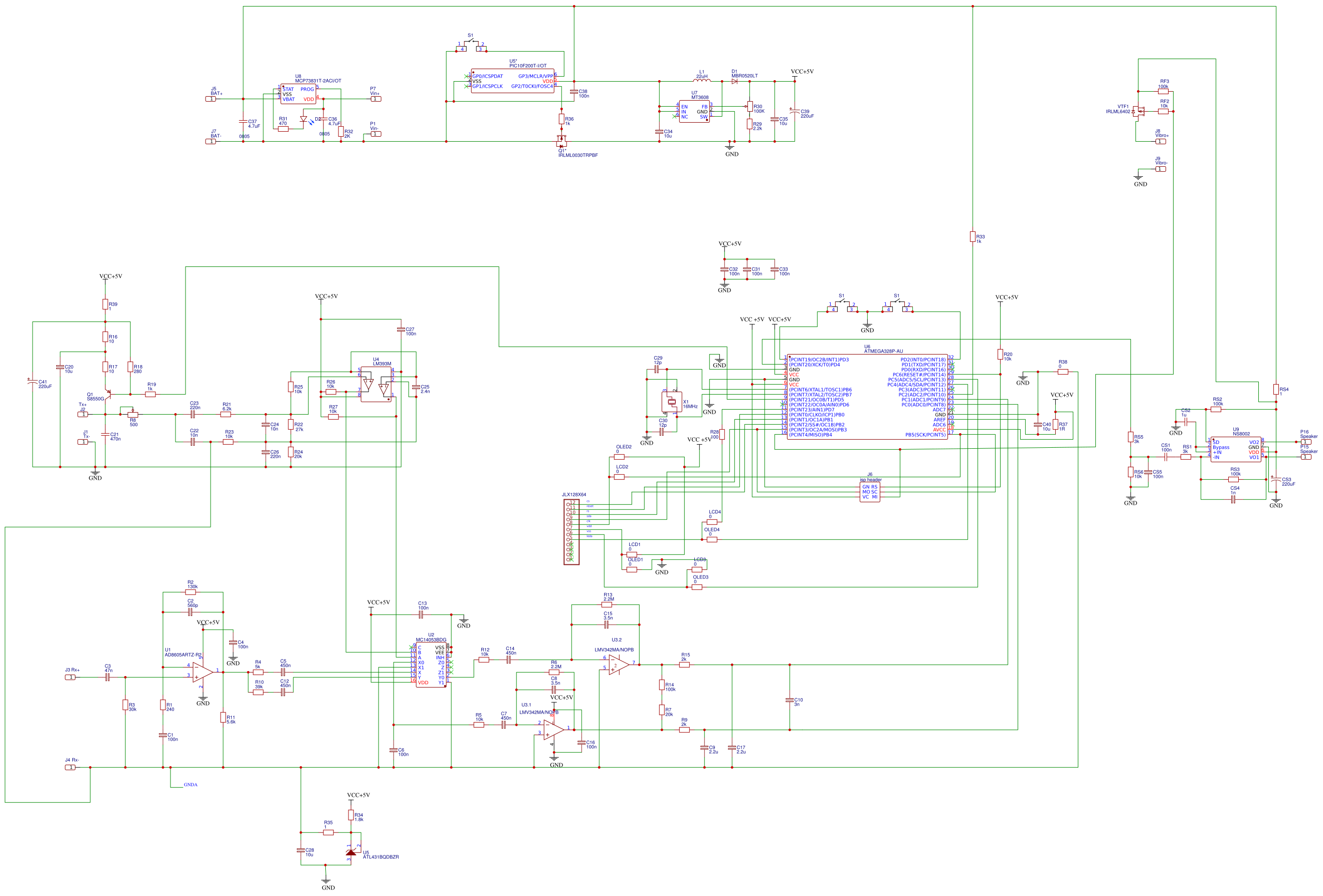 100K 10 X 7 commoned Resistor red 8 Pin SIL solo en línea 055