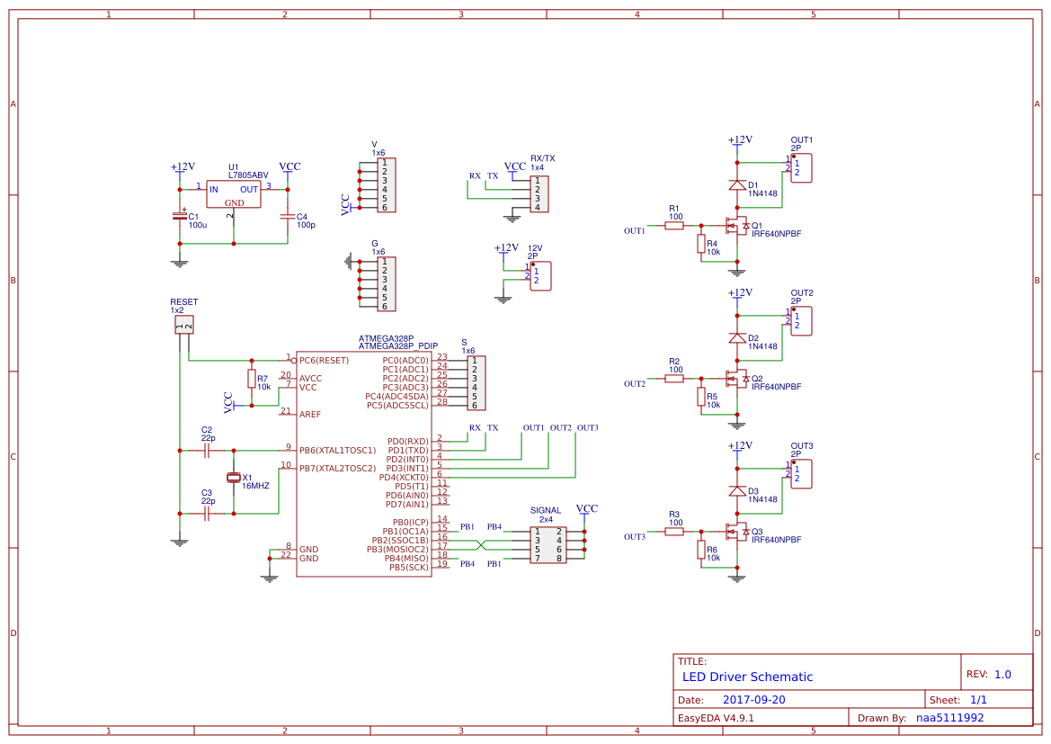 Led Driver Atmega 328p Easyeda Circuit For Schematic