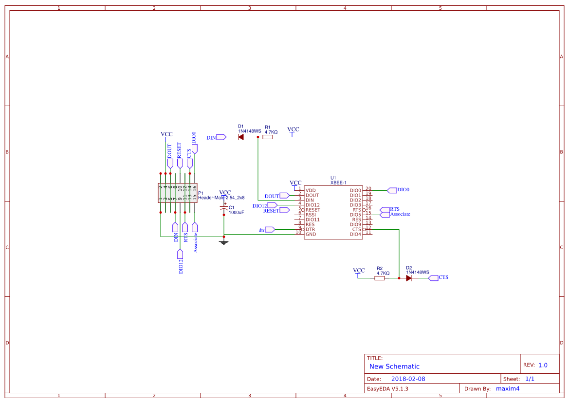 xbee in 1551H box - EasA Xbee Schematic on