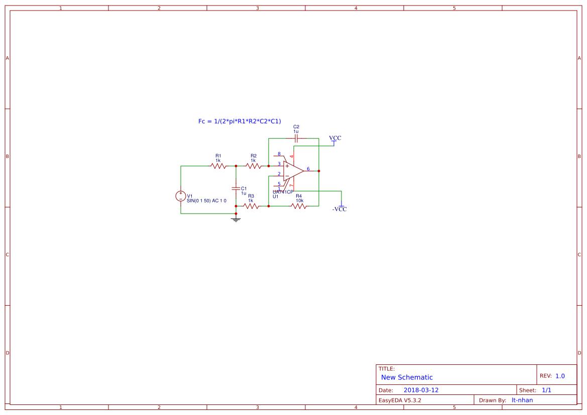Lowpass Filter Order 2 Easyeda Low Pass Rc Diagram Sheet 1