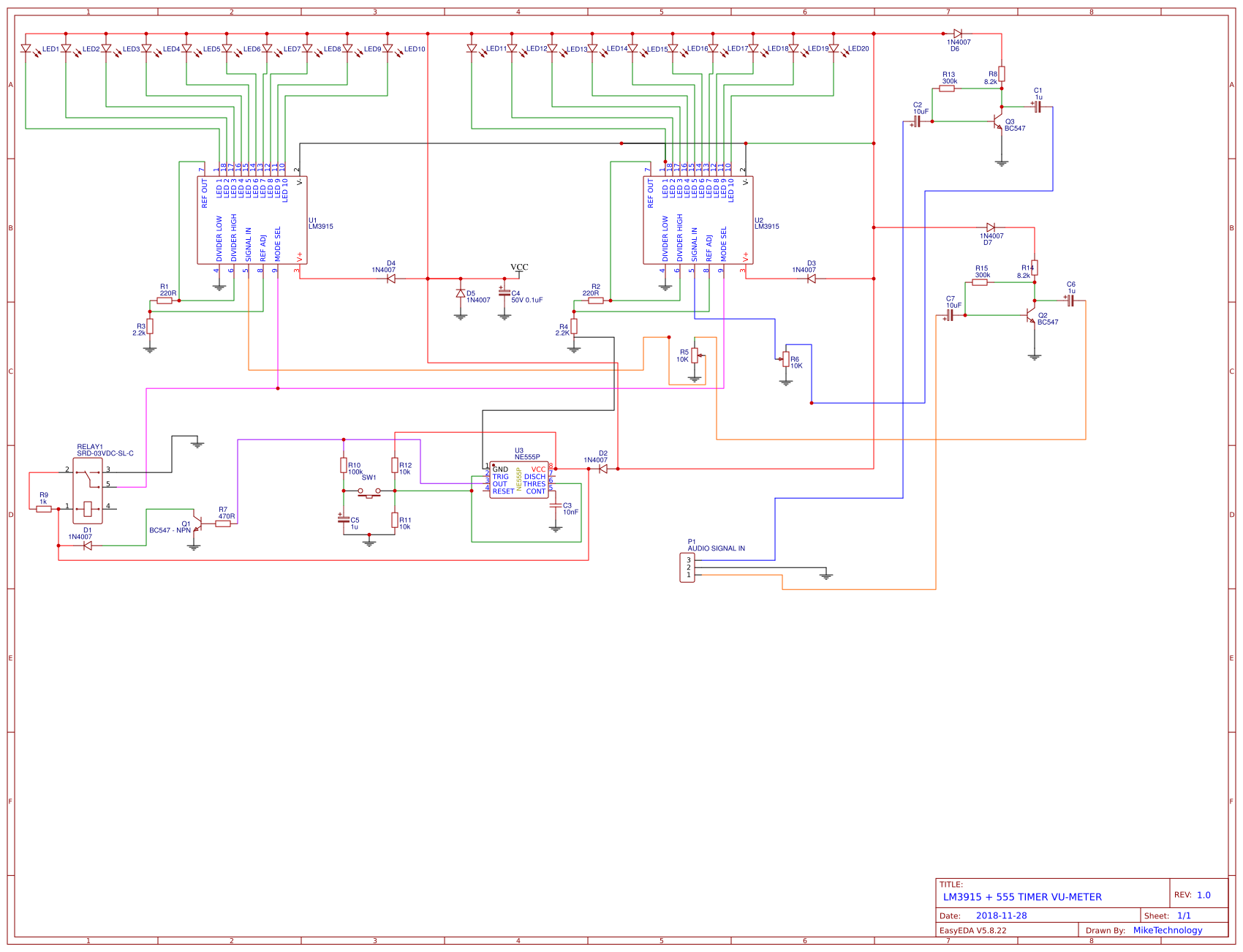 Lm3915 555 Timer Vu Meter Easyeda Operating Modes Sheet 1