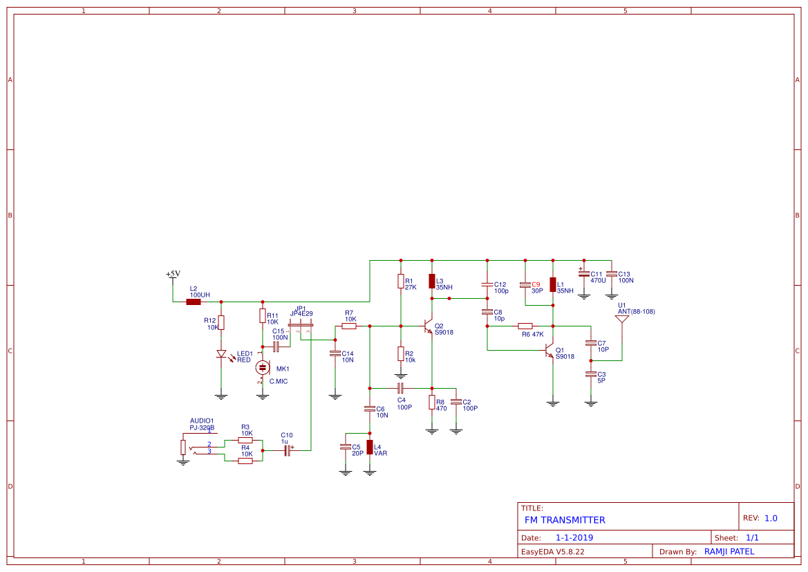 Schematics Tutorials Downloads Contact Simple Fm Transmitter Bug