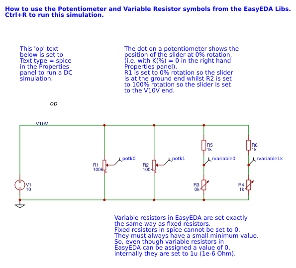 Potentiometers and Variable Resistors - EasyEDA
