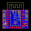 ESP8266 12E minimal power consumption breakout board - EasyEDA