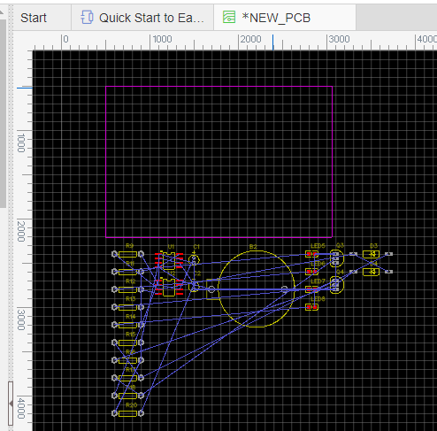 After Making Any Necessary Corrections Click The Convert To PCB Button And EasyEDA Will Automatically Load All Package Footprints Into