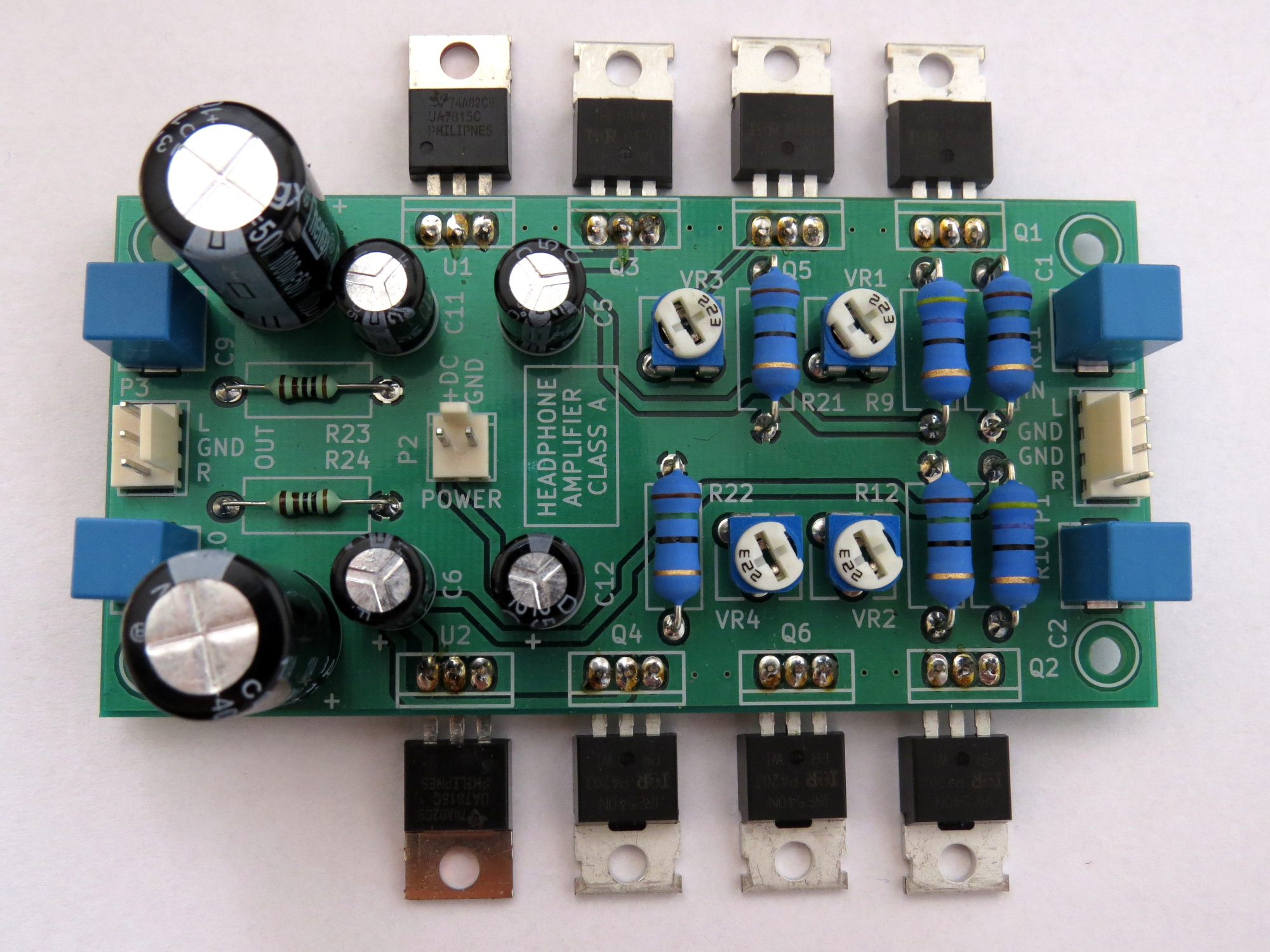 Class A Mosfet Headphone Amplifier Easyeda Circuits