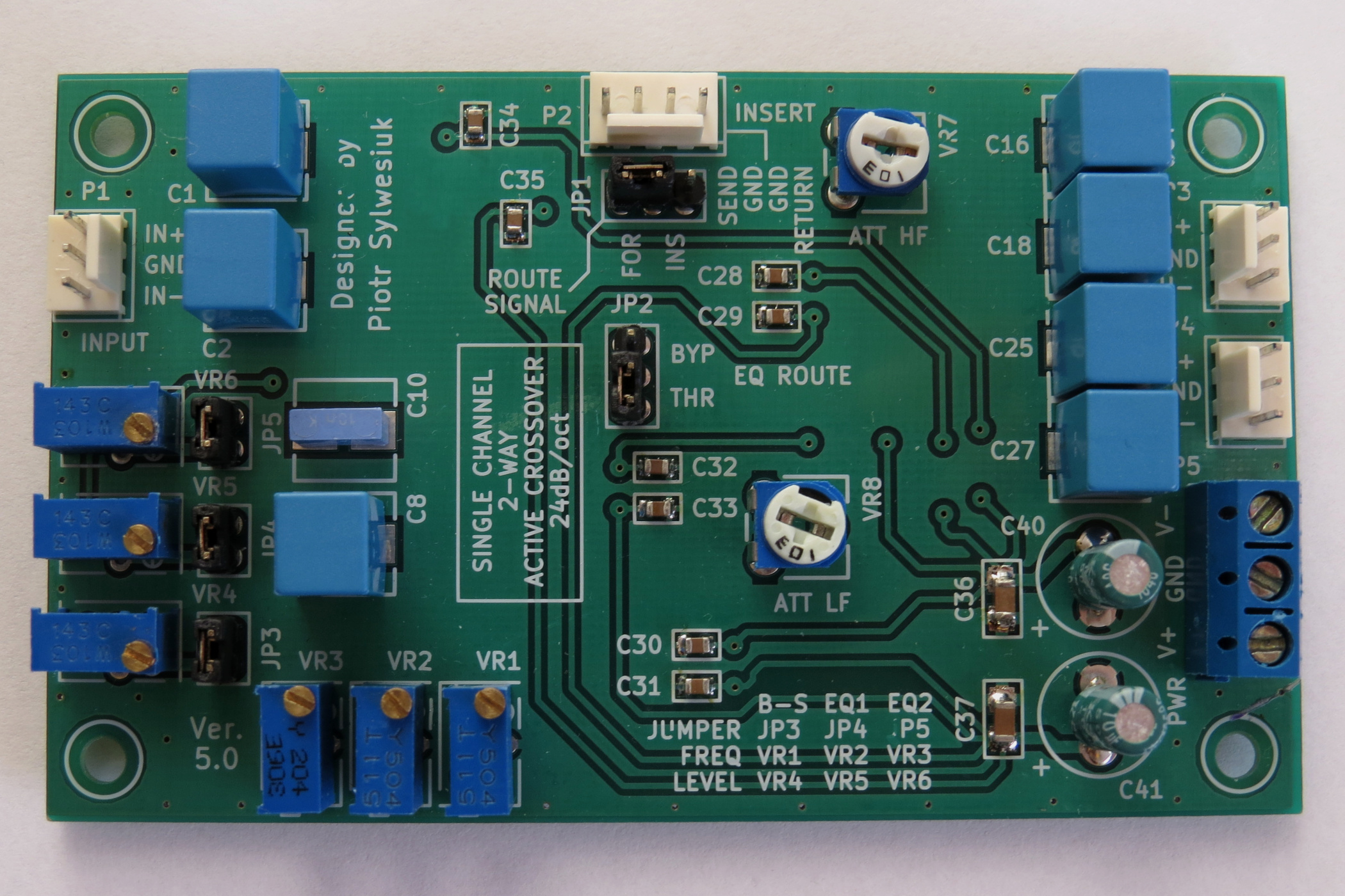 Single channel 2-way active crossover 24dB/oct - EasyEDA