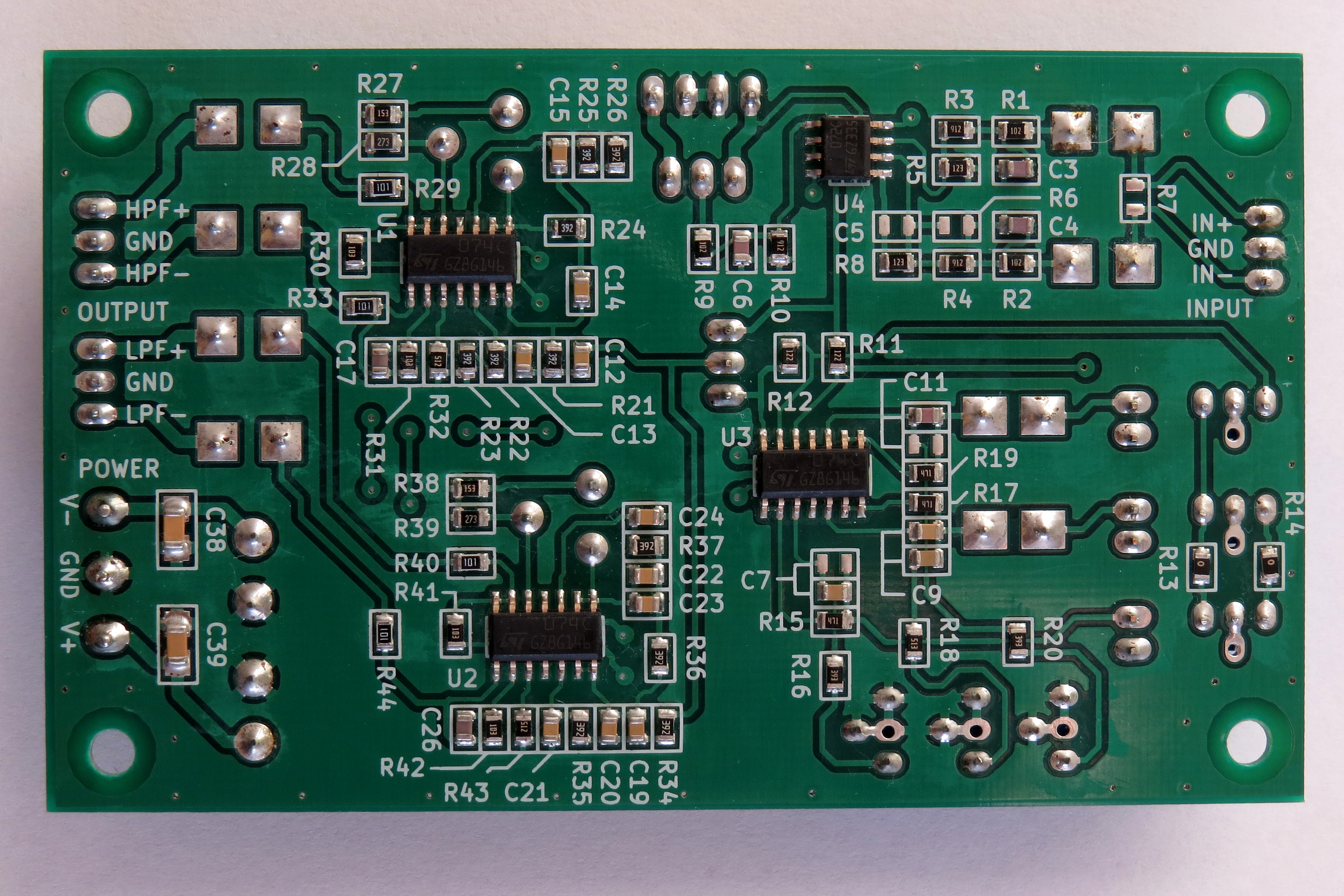 Single Channel 2 Way Active Crossover 24db Oct Easyeda Circuit Ac04